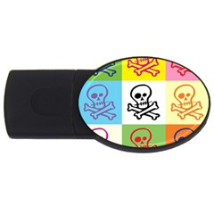 Skull 2gb Usb Flash Drive (oval)