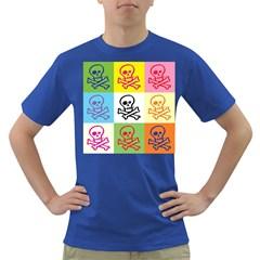 Skull Men s T-shirt (Colored)