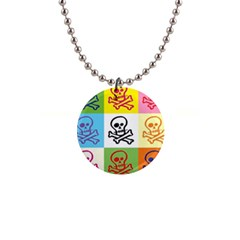 Skull Button Necklace
