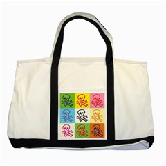 Skull Two Toned Tote Bag