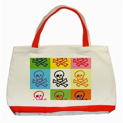 Skull Classic Tote Bag (Red)