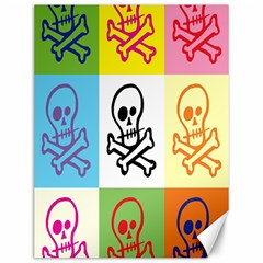 Skull Canvas 12  x 16  (Unframed)