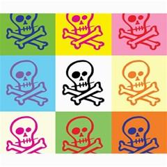 Skull Canvas 20  x 24  (Unframed)