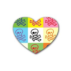 Skull Drink Coasters 4 Pack (Heart)