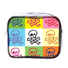 Skull Mini Travel Toiletry Bag (one Side)