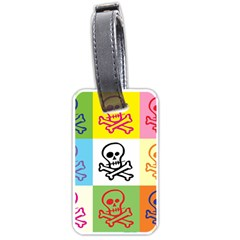 Skull Luggage Tag (Two Sides)