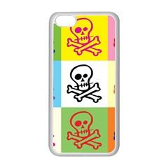 Skull Apple iPhone 5C Seamless Case (White)