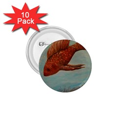 Gold Fish 1 75  Button (10 Pack)