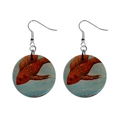 Gold Fish Mini Button Earrings