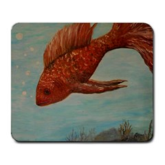 Gold Fish Large Mouse Pad (Rectangle)