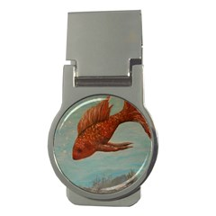 Gold Fish Money Clip (round)