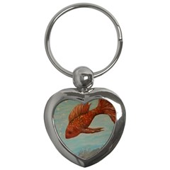 Gold Fish Key Chain (Heart)
