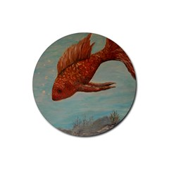 Gold Fish Drink Coasters 4 Pack (Round)