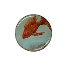 Gold Fish Golf Ball Marker 4 Pack (for Hat Clip)