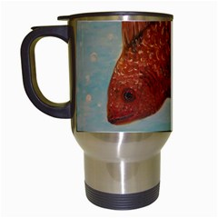 Gold Fish Travel Mug (White)