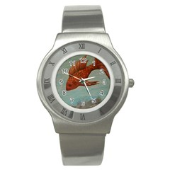 Gold Fish Stainless Steel Watch (Slim)