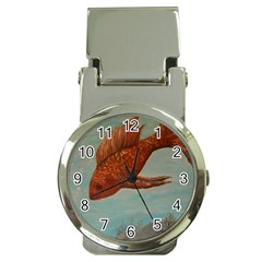 Gold Fish Money Clip with Watch