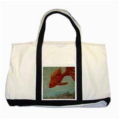 Gold Fish Two Toned Tote Bag
