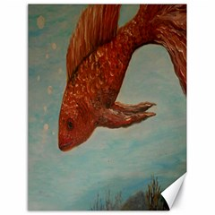 Gold Fish Canvas 18  x 24  (Unframed)