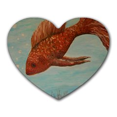 Gold Fish Mouse Pad (Heart)