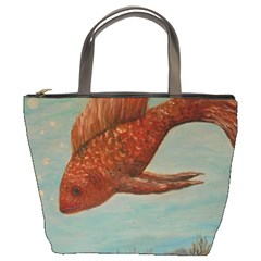 Gold Fish Bucket Handbag