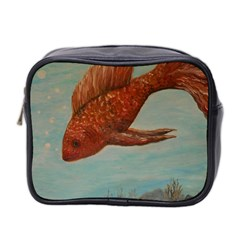 Gold Fish Mini Travel Toiletry Bag (two Sides)