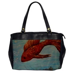 Gold Fish Oversize Office Handbag (One Side)