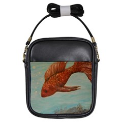 Gold Fish Girl s Sling Bag
