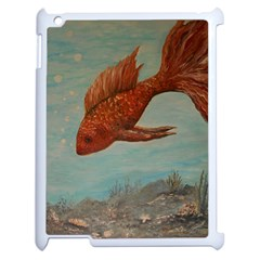 Gold Fish Apple iPad 2 Case (White)