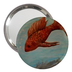 Gold Fish 3  Handbag Mirror
