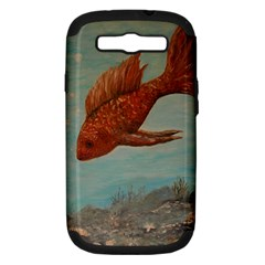 Gold Fish Samsung Galaxy S Iii Hardshell Case (pc+silicone)