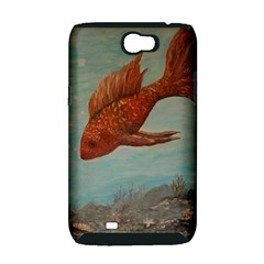 Gold Fish Samsung Galaxy Note 2 Hardshell Case (PC+Silicone)