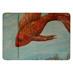 Gold Fish Samsung Galaxy Tab 8 9  P7300 Flip Case