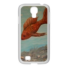 Gold Fish Samsung GALAXY S4 I9500/ I9505 Case (White)