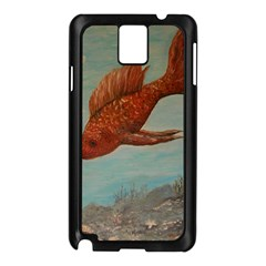 Gold Fish Samsung Galaxy Note 3 N9005 Case (Black)