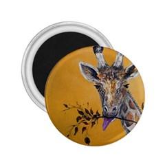 Giraffe Treat 2 25  Button Magnet