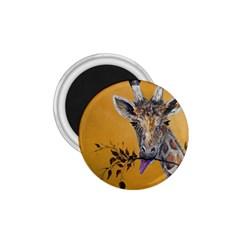 Giraffe Treat 1 75  Button Magnet