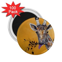 Giraffe Treat 2.25  Button Magnet (100 pack)
