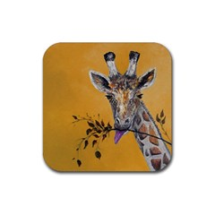 Giraffe Treat Drink Coaster (Square)
