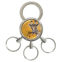 Giraffe Treat 3 Ring Key Chain
