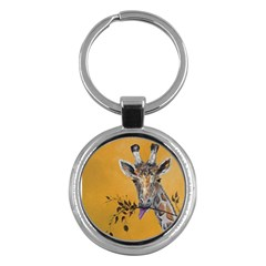 Giraffe Treat Key Chain (round)