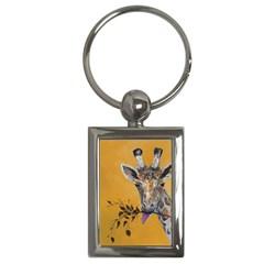 Giraffe Treat Key Chain (Rectangle)