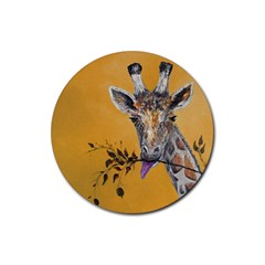 Giraffe Treat Drink Coaster (Round)