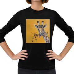 Giraffe Treat Women s Long Sleeve T-shirt (Dark Colored)