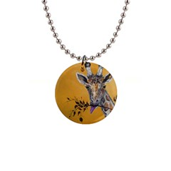 Giraffe Treat Button Necklace