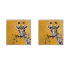 Giraffe Treat Cufflinks (square)