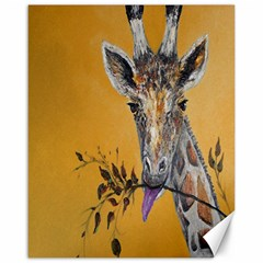 Giraffe Treat Canvas 16  x 20  (Unframed)