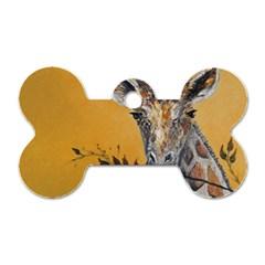 Giraffe Treat Dog Tag Bone (One Sided)