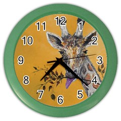Giraffe Treat Wall Clock (Color)