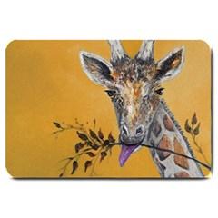 Giraffe Treat Large Door Mat